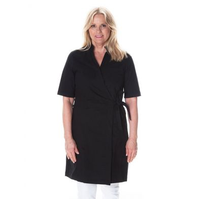 WAW Ladies Wrap Dress Black